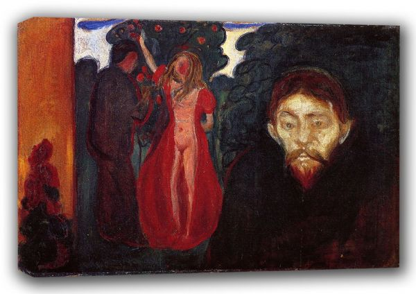 Munch, Edvard: Jealousy. Fine Art Canvas. Sizes: A3/A2/A1 (00878)